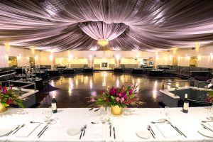Ballroom with dance floor and dining space