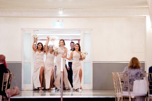 Bridal Party entering room